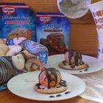 Мандарины в глазури на печенье