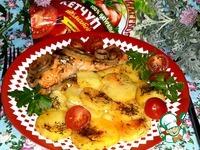 Запечённый лосось с картофелем в фольге ингредиенты