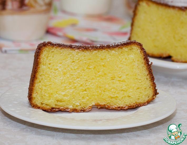 Рецепт: Творожный кекс с шафраном