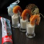 Креветки в панировке с сырным соусом