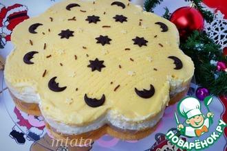 Рецепт: Торт персиковый с йогуртово-сливочным кремом