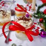 Десерт из персика с маскарпоне