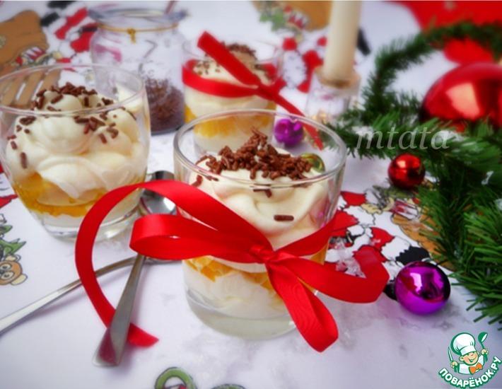Рецепт: Десерт из персика с маскарпоне