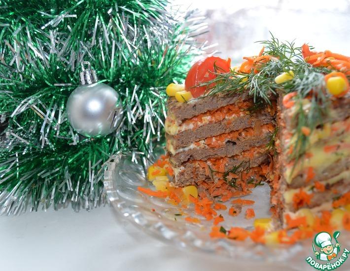 Рецепт: Торт печеночный Очередной