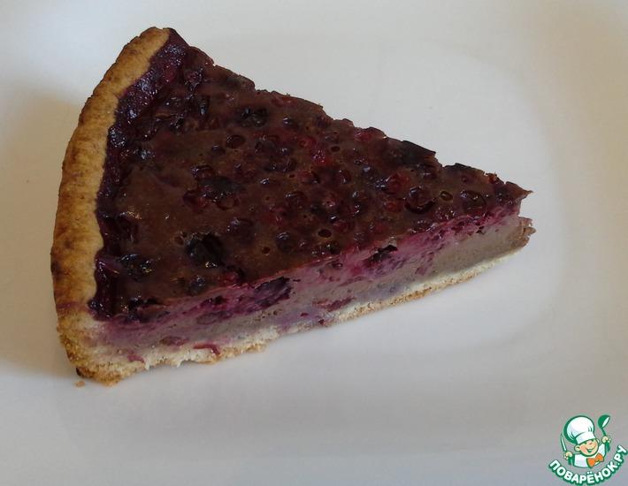 Рецепт: Шоколадный пирог с ягодами