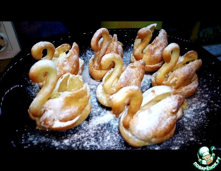Рецепт: Заварные пирожные Лебеди
