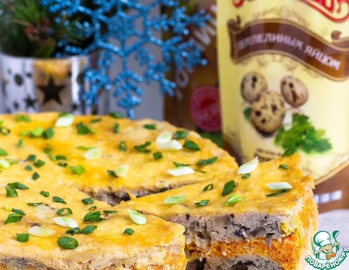 Рецепт: Закусочный торт с шампиньонами Карусель