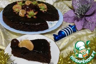 Рецепт: Шоколадный кекс с вишней Восхитительный