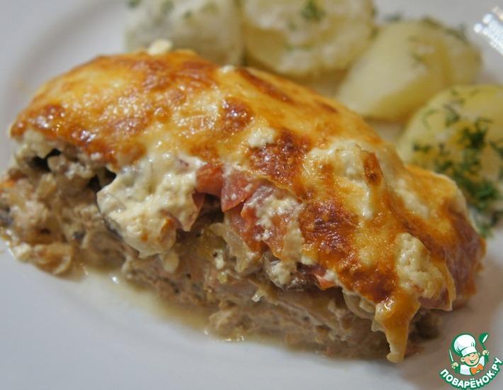 Рецепт: Горбуша, запеченная с сыром