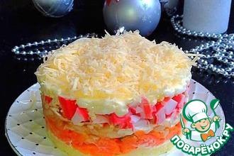 Рецепт: Салат крабовый по-новому