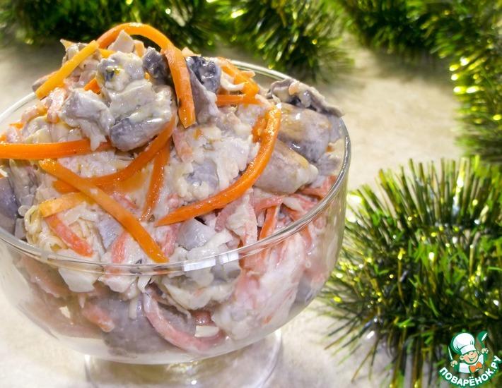 Рецепт: Праздничный салат Корейчанка