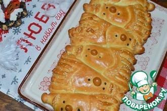 Рецепт: Пирог Дедушки Морозы