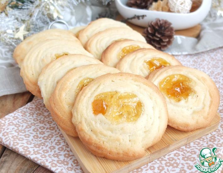 Рецепт: Ванильное печенье с джемом