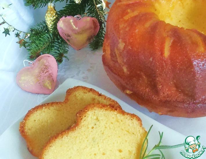Рецепт: Апельсиновый кекс с розмарином