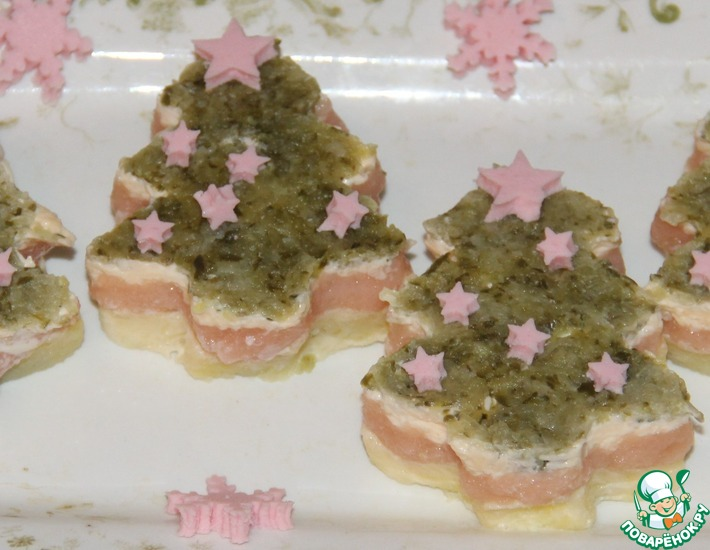 Рецепт: Салат с икрой мойвы Ёлочки