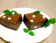 Шоколадный манный пудинг с малиной