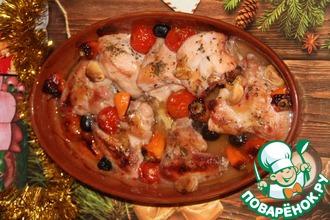 Рецепт: Курица в кисло-сладком соусе Нарядная
