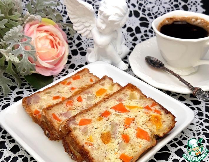 Рецепт: Запеканка творожно-фруктовая с морковью