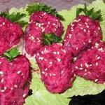 Салат из рыбы «Клубника»