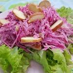 Салат из сухариков с редькой