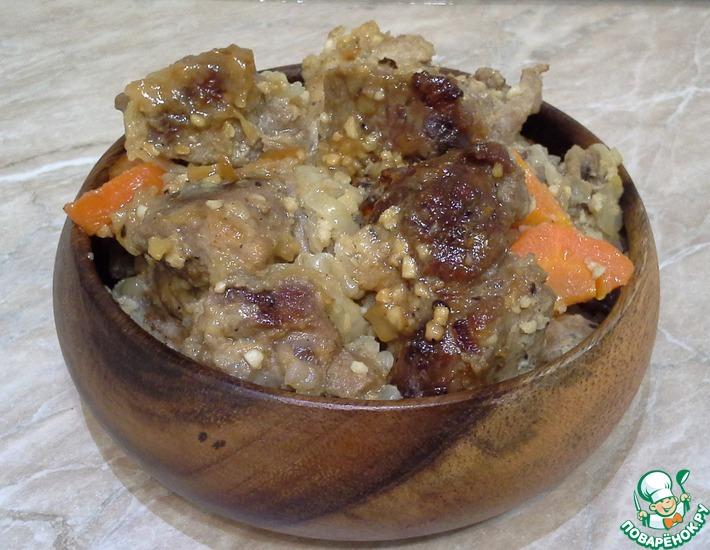 Рецепт: Свинина в горчице в рукаве
