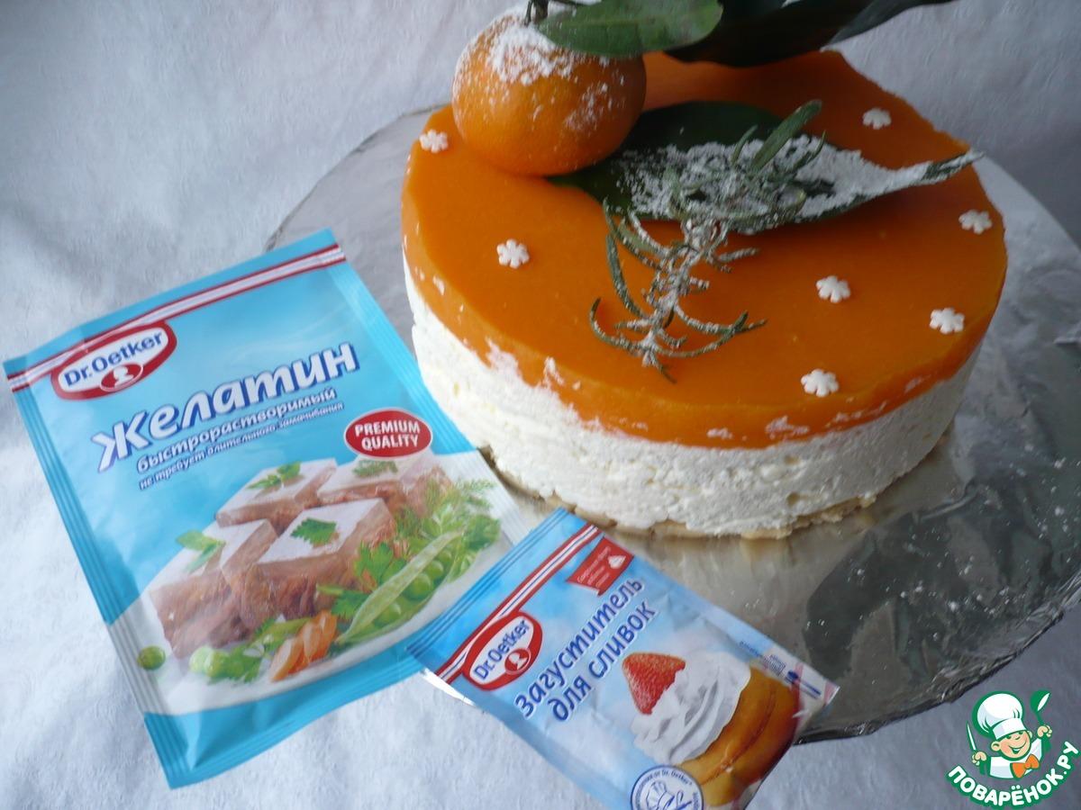 """Мандариновый чизкейк """"Новогодний аромат"""""""