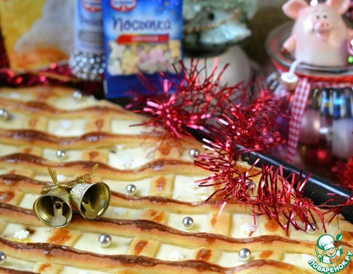 Рецепт: Новогодний богатый пирог