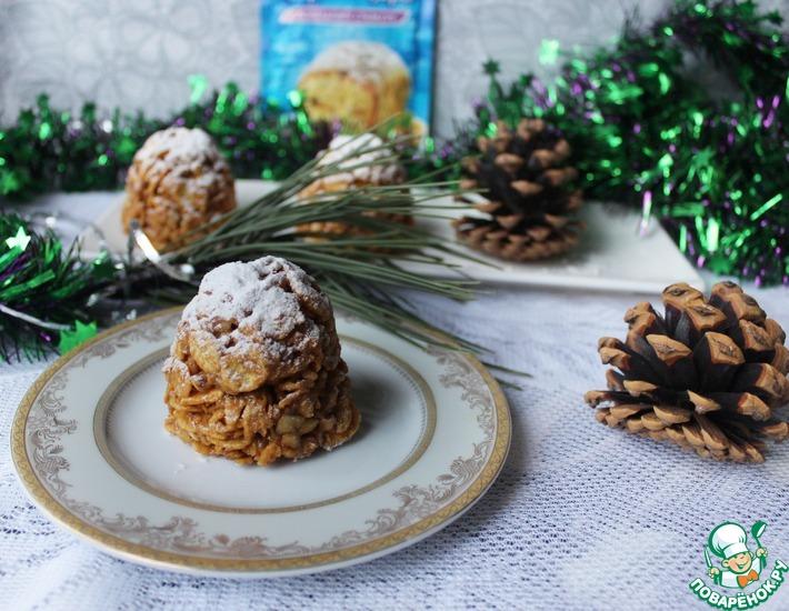 Рецепт: Пирожные без выпечки Новогодние шишки