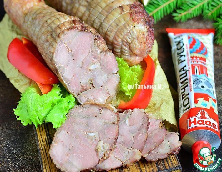 Рецепт: Холодная закуска из голени индейки