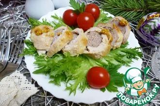 Рецепт: Куриные рулеты с домашними колбасками