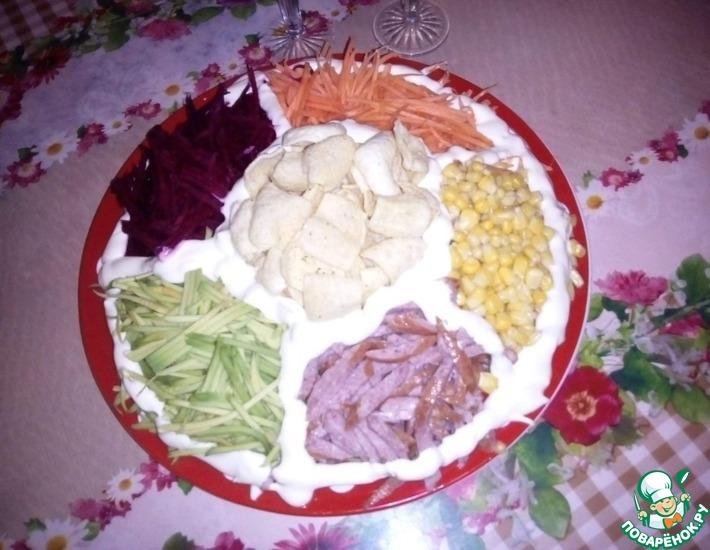 Рецепт: Салат Ромашка