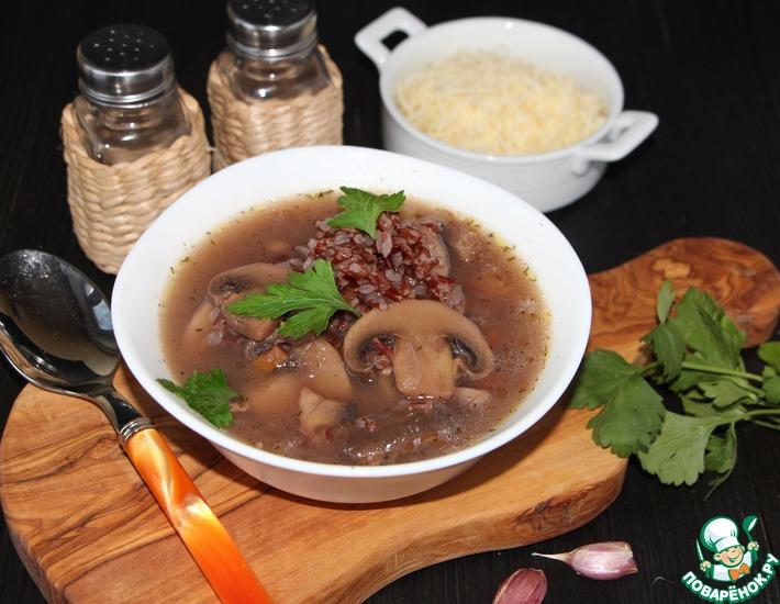 Рецепт: Грибной суп Почти Калифорнийский