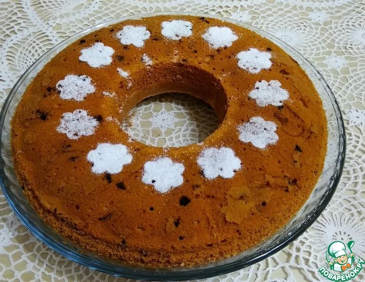 Рецепт: Апельсиновый кекс с шоколадом