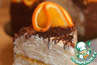 Рецепт: Блинный торт Цитрус