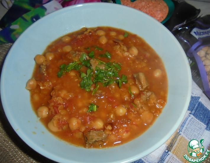 Рецепт: Густой суп с нутом Харира