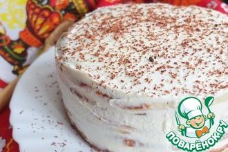 Рецепт: Блинный торт Сливочный