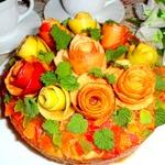 Тыквенно-яблочный торт из блинов