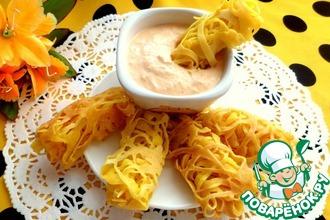 Рецепт: Ажурные блины с соусом