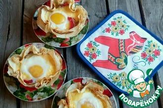 Рецепт: Закусочные блины с яйцом