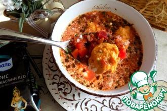 Рецепт: Свекольный суп с фрикадельками