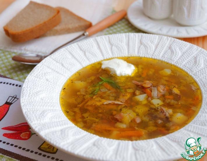 Рецепт: Чечевичный суп с домашней курицей
