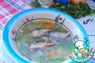 Рецепт: Рисовый суп со шпротами
