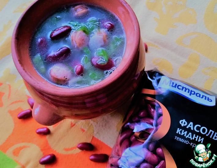Рецепт: Суп с фасолью и колбасками