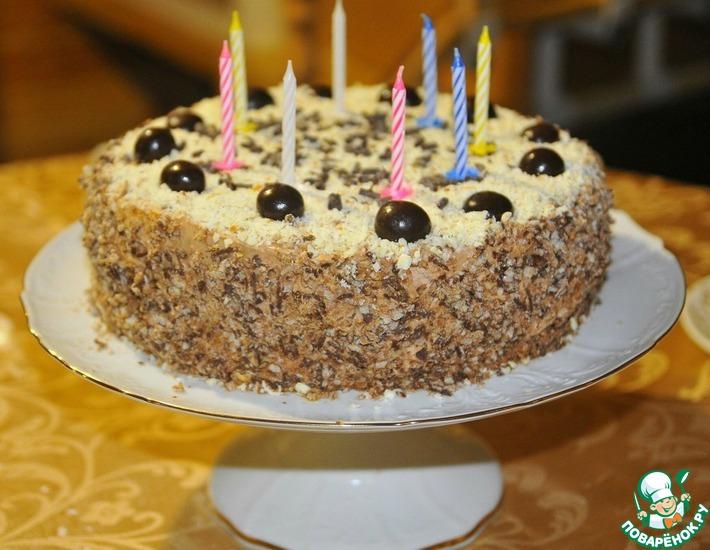 торт со взбитыми сливками на бисквитной основе профессиональный рецепт