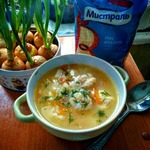 Венгерский суп с сырными клецками