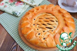 Рецепт: Пирог с квашеной капустой и опятами