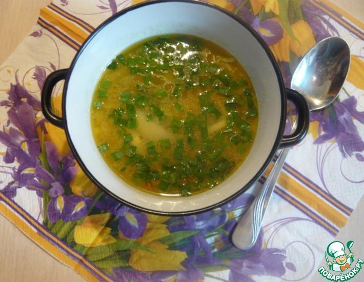 Рецепт: Суп с лапшой из манной крупы