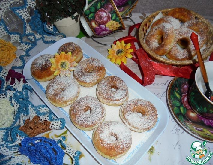 Рецепт: Апельсиновые пончики на мягком твороге