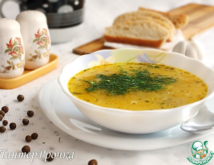 Рецепт: Легкий суп с манкой
