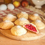 Творожное печенье с брусникой